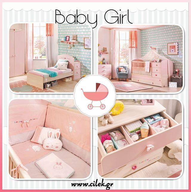 af51a4c0224 Baby Girl, Ένα υπέροχο βρεφικό δωμάτιο δωμάτιο σε απαλές ροζ αποχρώσεις.  Δείτε όλο το δωμάτιο στο www.cilek.gr